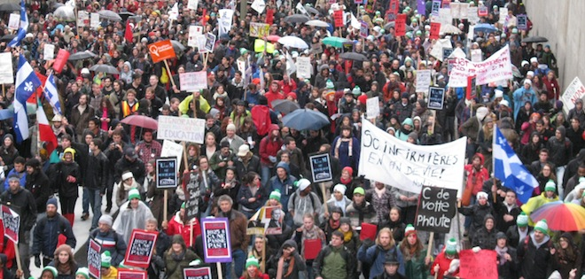 Québec Montréal : grève étudiants car hausse des frais de scolarité