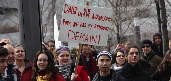 Université hausse frais Montréal Québec étudiants