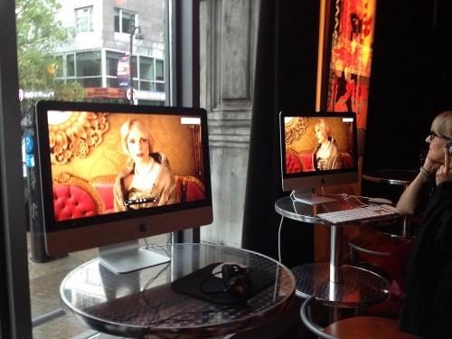Diffusion des films publicitaires au lancement de la campagne_photo Richard JIMMYNY Des Lys